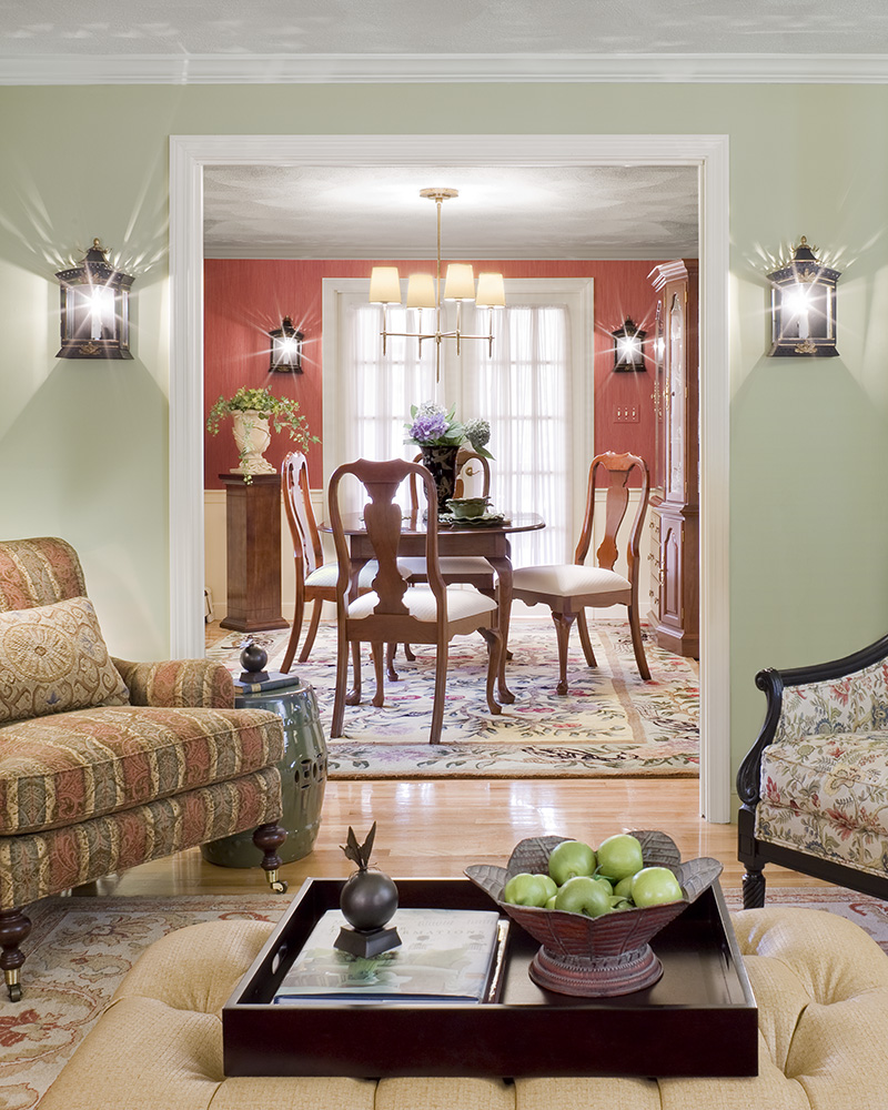 Traditional home given a fresh look gallery boston for Traditional style home interior design