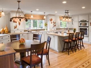 Kitchen utilizing Transitional Interior Design