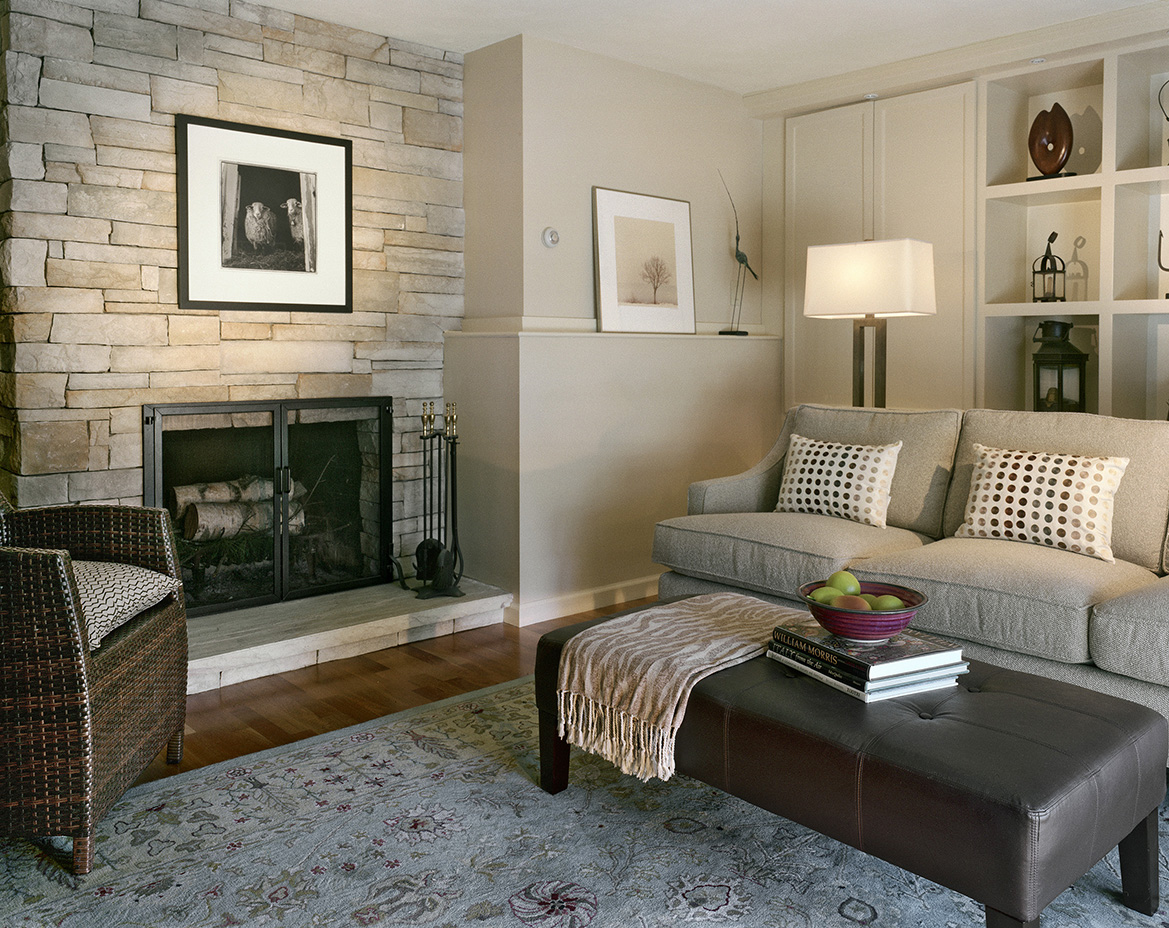 Transitional gallery room built for a primitive artwork collection boston design and - Home decorating blogspot gallery ...