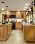 A classic kitchen layout with an updated look