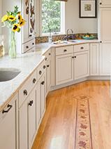 Exquisite wooden floor inlays by Boston Design and Interiors, Inc.