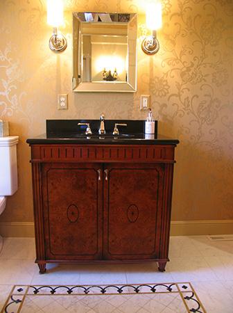 Exquisite Bathroom with Marble Floor