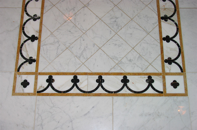 Laser Cut Marble Floor