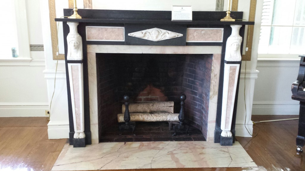 Egyptian Fireplace Mantle and Surround- Dated 1932