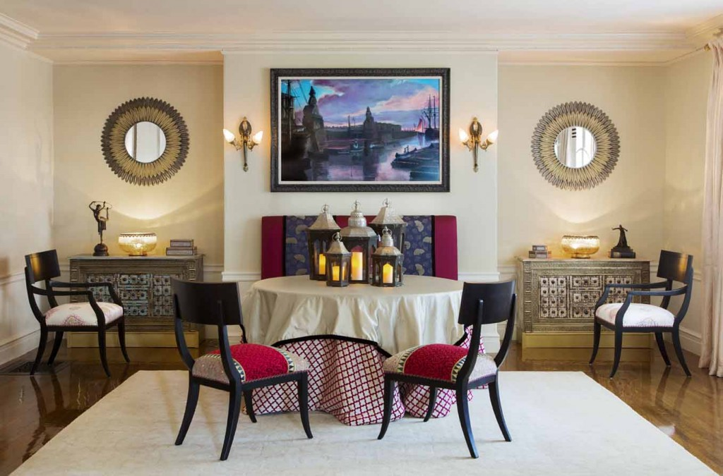 A set of klismos chairs in a Neoclassical/Egyptian revival interior with Art Deco roots Project Photo- Boston Design and Interiors, Inc.