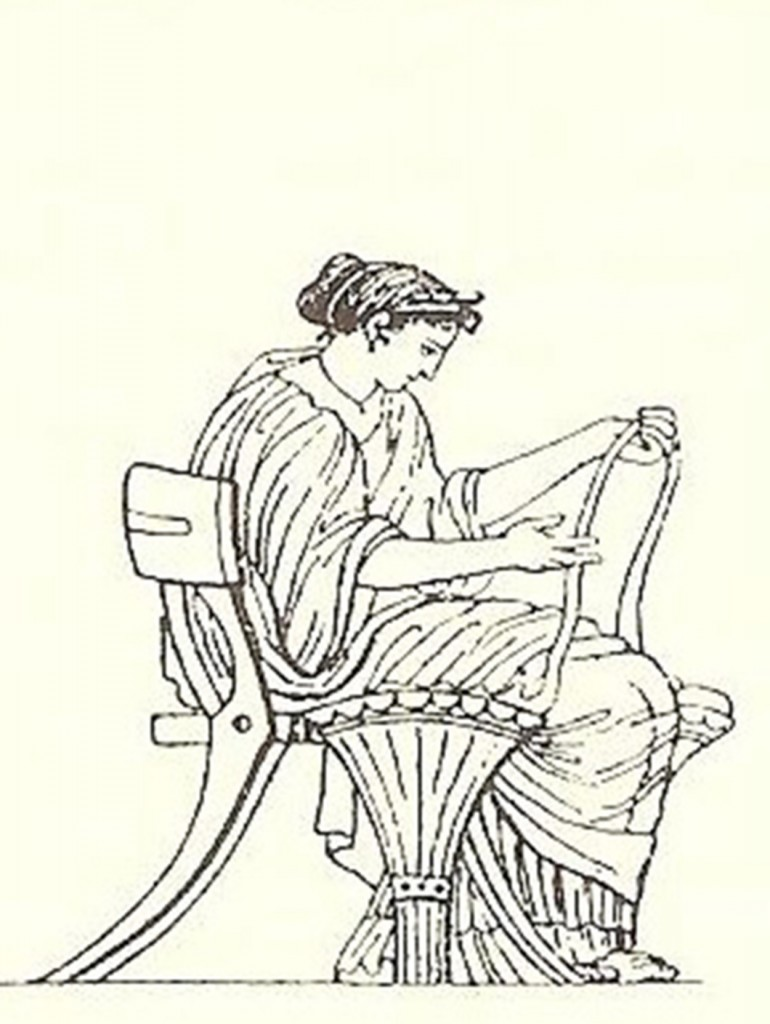 Illustration from Fosbroke's Encyclopedia of Antiquities, 1825 Volume II Drawing taken from a 5th century Greek vase